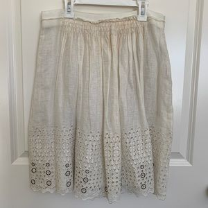 Cream Elie Tahari Skirt Size 6